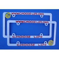 License Plate Frame, Choose Life, Plastic